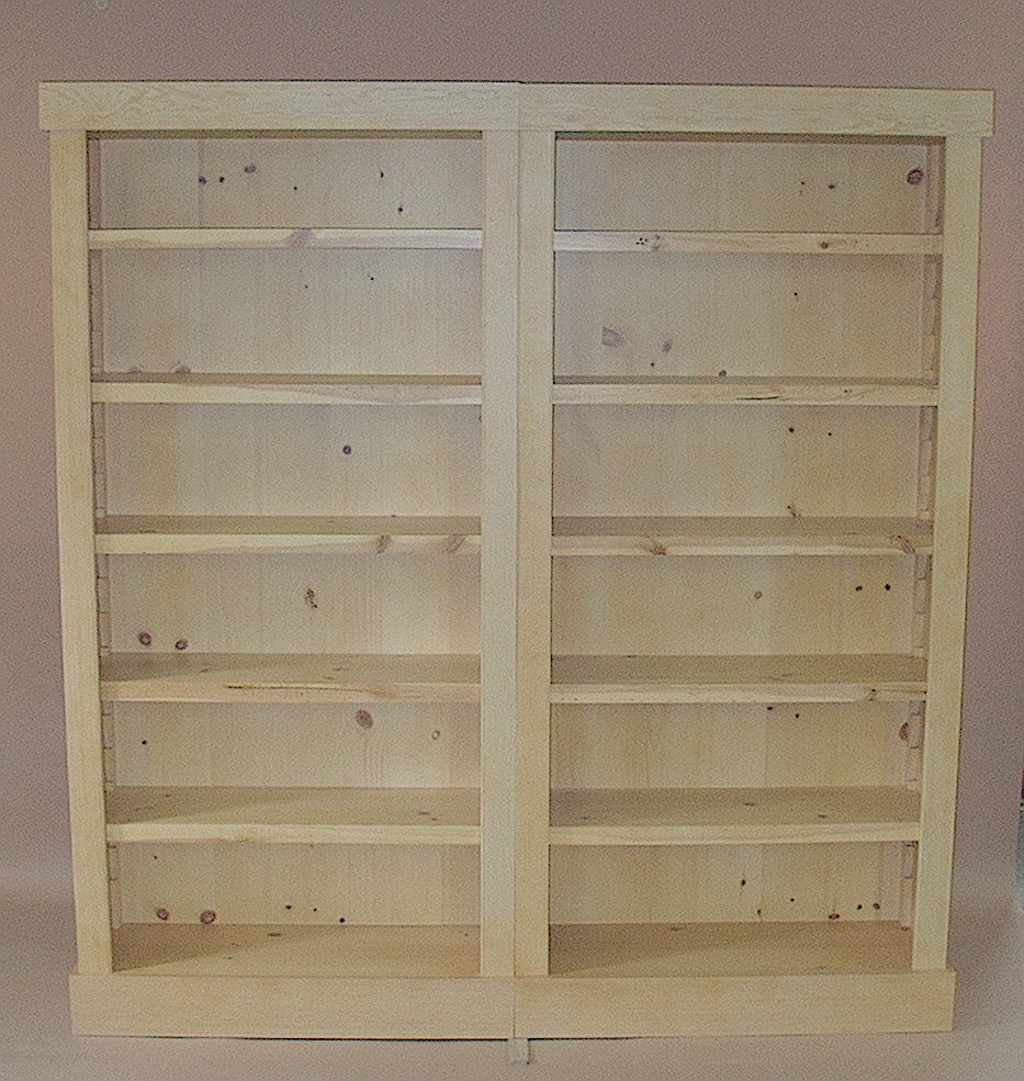 PDF DIY Knotty Pine Bookcases Download kreg jig shoe rack plans