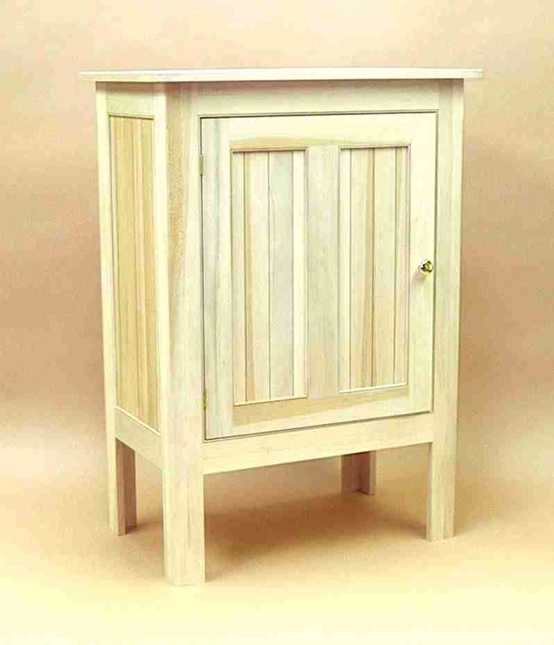Tennis Club Cabinet & Stephan Woodworking - Free Standing Sycamore Cabinet
