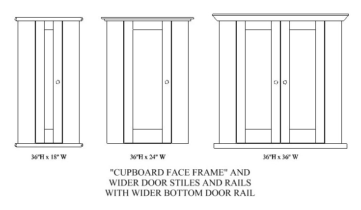 CUPBOARD WIDE STILES NO RAILS FACE FRAME  sc 1 st  Stephan Woodworking : stile door - pezcame.com
