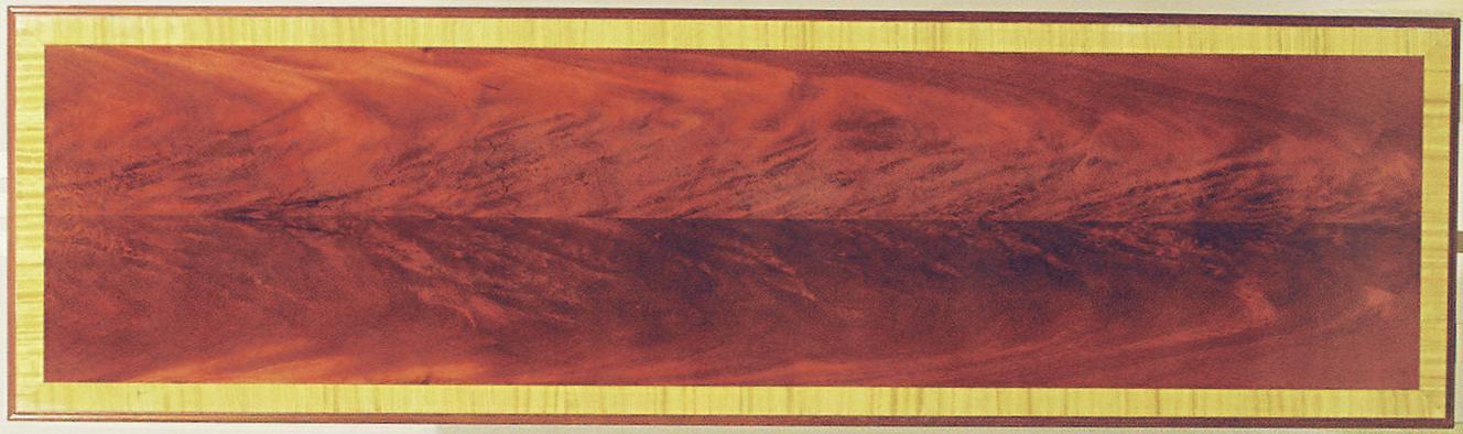 Mahogany Crotch Hall Table